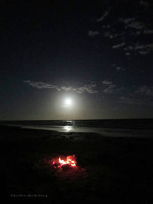 Photograph - Beach Campfire  by Charles McKelroy