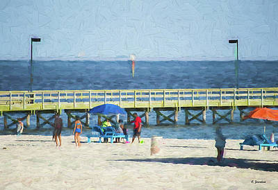Digital Art - Beach by Cathy Jourdan
