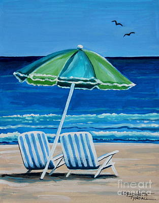 Painting - Beach Chair Bliss by Elizabeth Robinette Tyndall