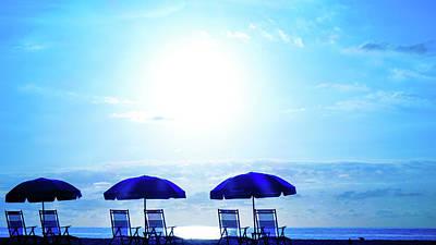 Photograph - Beach Chair Blues Delray Beach Florida by Lawrence S Richardson Jr