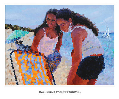 Painting - Beach Chair Poster by Glenn Tunstull