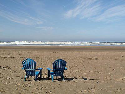 Photograph - Beach Chair Pair by Suzy Piatt