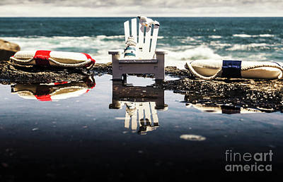 Decoration Photograph - Beach Chairs And Rock Pools by Jorgo Photography - Wall Art Gallery