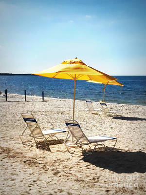 Photograph - Beach Chairs Await by Carol Groenen
