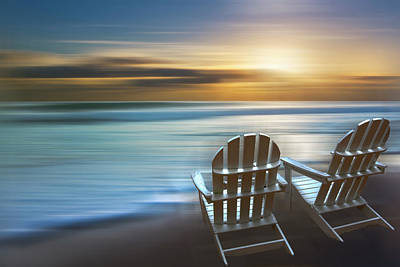 Photograph - Beach Chairs Dreamscape by Debra and Dave Vanderlaan