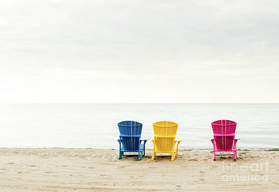 Photograph - Beach Chairs by Jim Crawford