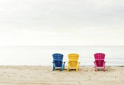 Photograph - Beach Chairs by Jim Crawford