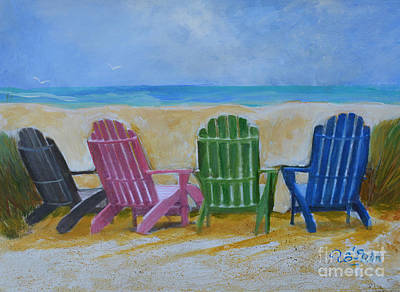 Surf Lifestyle Mixed Media - Beach Chairs by To-Tam Gerwe