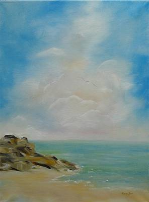 Painting - Beach Clouds by Judith Rhue