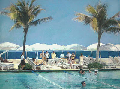 Painting - Beach Club by Thomas Tribby