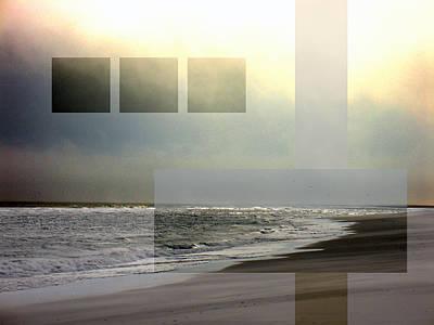 Beach Collage 2 Art Print by Steve Karol