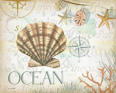 Beach Collage B Art Print by Grace Pullen