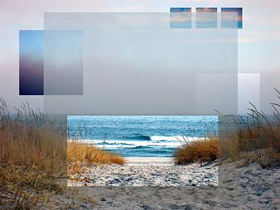Abstract Beach Landscape Digital Art - Beach Collage by Steve Karol