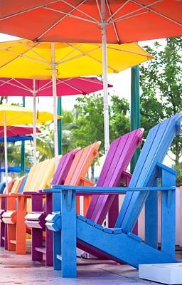 Umbrella Photograph - Beach Colors  by Chrystyne Novack