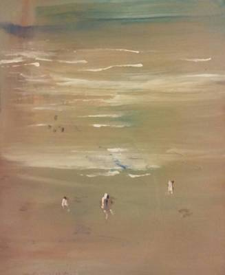Painting - Beach Combers by Gregory Dallum