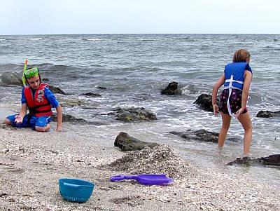 Photograph - Beach Combing   by Chris Mercer