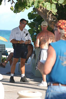 Beach Cops And Christ Original by Rob Hans