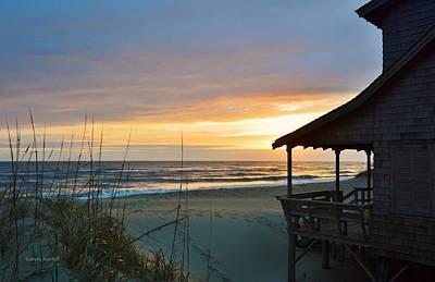 Beach Cottage Sunrise  Art Print