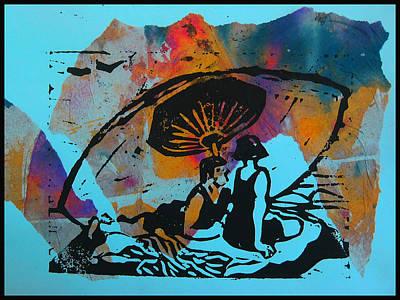 Beach Couple 1 Print by Adam Kissel