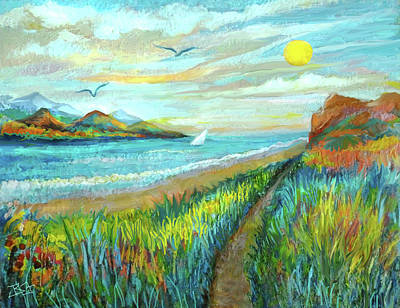 Painting - Beach Cove by Jean Batzell Fitzgerald