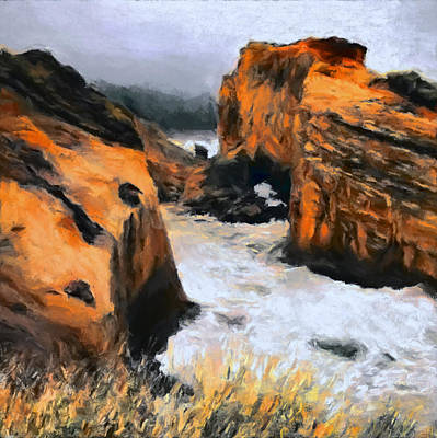 Abstract Landscape Royalty-Free and Rights-Managed Images - Beach Cove by Lonnie Christopher