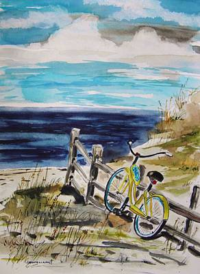 Sand Fences Drawing - Beach Cruiser by John Williams