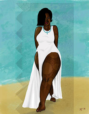 Digital Art - Beach by David James