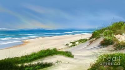 Beach Day Art Print by Anthony Fishburne