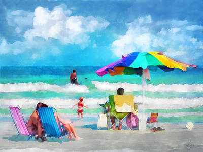 Digital Art - Beach Day II by Francesa Miller