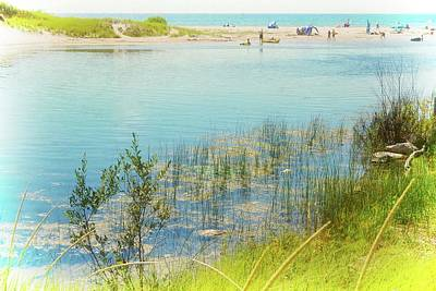 Sauble Beach Photograph - Beach Day In August by Michelle Calkins