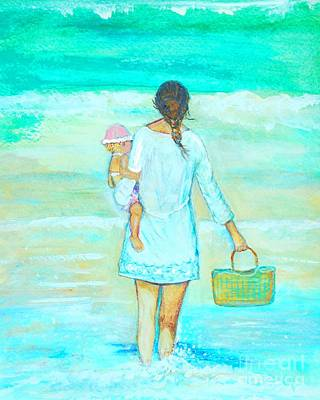 Painting - Beach Day Picnic by Leslie Allen