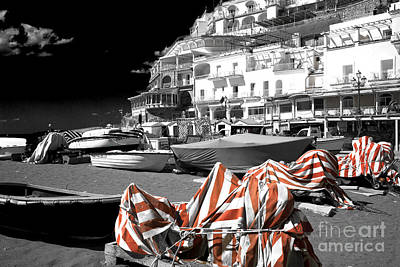 Photograph - Beach Day Positano Fusion by John Rizzuto