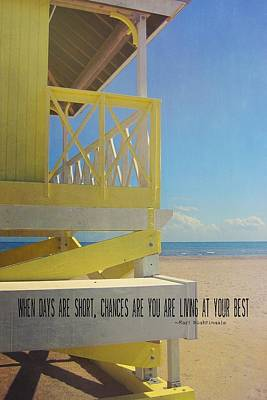 Photograph - Beach Day Quote by JAMART Photography