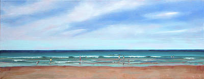Painting - Beach Day by Trina Teele