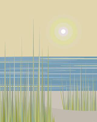 Digital Art - Beach Days by Val Arie