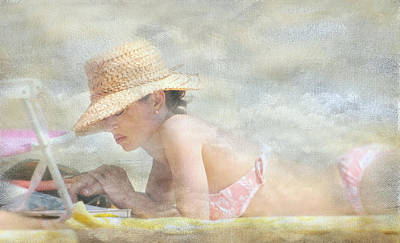 Photograph - The Straw Hat by Diana Angstadt