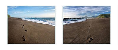 Photograph - Beach Diptych by Leland D Howard
