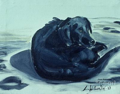 Painting - Beach Dog At Davis Bay by Laara WilliamSen
