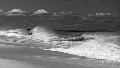 Photograph - Beach Drama by Mary Haber