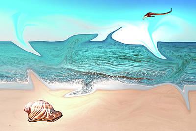 Digital Art - Beach Dream by Brett Christensen