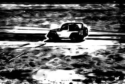 Photograph - Beach Driving - The Jeep In Abstract by Gina O'Brien