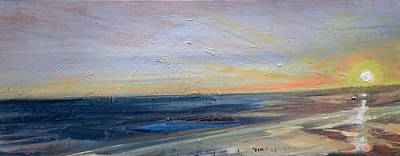 Painting - Beach Dusk 1 by Paul Mitchell