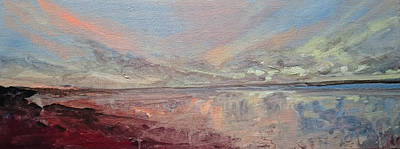 Painting - Beach Dusk 2 by Paul Mitchell