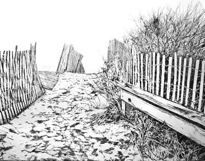 Drawing - Beach Entrance by Michele Loftus