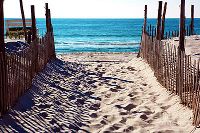 Sand Fences Photograph - Beach Entry by John Rizzuto