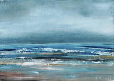 Painting - Beach Exercise by Trina Teele