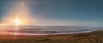 Photograph - Beach Explosion by Leland D Howard