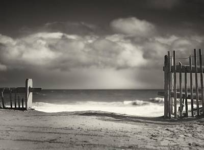 Cape Cod Photograph - Beach Fence - Wellfleet Cape Cod by Dapixara Art