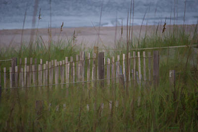 Photograph - Beach Fence by Roberta Byram