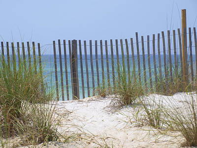 Beach Fence Art Print by James Granberry